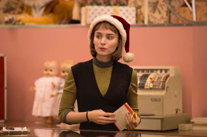 Rooney Mara Carol Movie Santa Hat Jon On Film